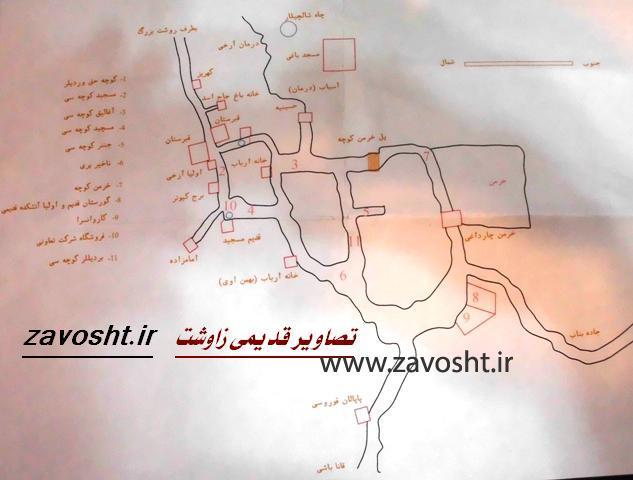 نقشه زاوشت قدیم